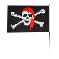 Флаг пирата в бандане 14*21