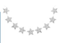 """Гирлянда """"Звездочки"""", цвет серебро"""