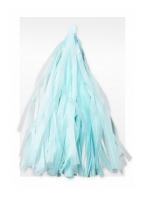 Гирлянда Тассел, Светло-голубая, 3 м, 12 листов
