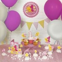 """Набор для оформления праздника """"1 годик""""малышка"""