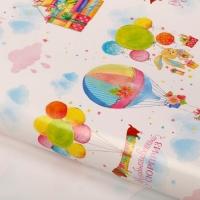 """Бумага упаковочная глянцевая """"Воздушные шарики"""", 70 х 100 см"""