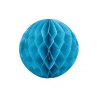 Бумажные шары соты голубой цвет 20 см