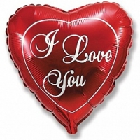 Шар фольгированный Сердце, Я люблю тебя, Красный (18»/46 см)