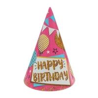 """Колпак бумажный """"С Днем рождения"""" шары и гирлянды"""