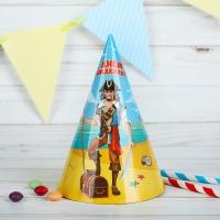 """Бумажные колпаки """"С днём рождения! Пират"""","""
