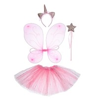 Карнавальный набор «Единорог», 4 предмета: крылья, юбка, ободок, жезл