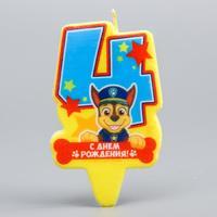 """Щенячий патруль. Свеча в торт """"С Днем рождения"""", PAW Patrol"""