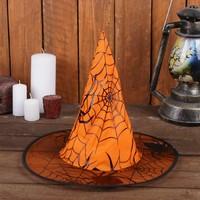 Карнавальная шляпа «Паутина», р-р. 56-58 см, цвет оранжевый