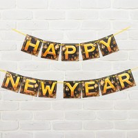 Гирлянда Happy new year, с шарами