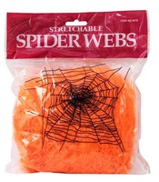 Оранжевая декоративная паутина на halloween