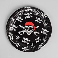 Тарелка бумажная «Пират», 18 см