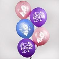 """Воздушные шары «С Днем Рождения», Холодное сердце,1 шт., 12"""""""