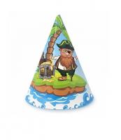 """Бумажные колпаки """"Пират"""", 16 см"""