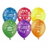 """Воздушные шары 12"""" """"С Днем рождения!"""" (торт), Ассорти, пастель"""