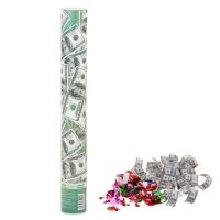 """Хлопушка поворотная """"Доллар"""" (серпантин бумага, доллары) 40 см"""