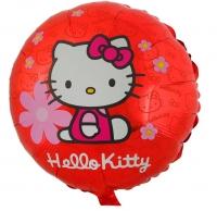 "Шар Фольгированный ""Hello Kitty в цветочках"" Круг 18"""