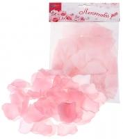 Лепестки роз, цвет - розовый, набор 150 шт