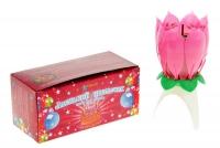 Свеча-цветок для торта с картонной вкладкой, музыкальная