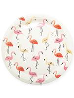 """Бумажные тарелки """"Фламинго"""", Белый, 6 шт., 18 см"""