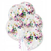 """Воздушный шар """"Прозрачный кристалл с конфетти"""""""