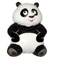 """Фольгированный шар """"Большая панда, (33""""/84 см) Белый"""