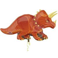 """Шар фигура фольга """"Динозавр Трицератопс"""""""
