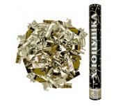 Пневмохлопушка Металлизированное конфетти, Золото (16»/40 см)
