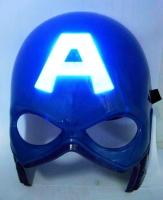 "Светящаяся маска ""Капитан Америка""  из толстого пластика"