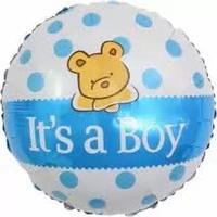 """Фольгированный шар """"С Рождением Малыша! (плюшевый мишка"""""""
