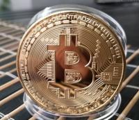 """Памятная монета """"Биткоин"""" (bitcoin), цвет золото"""