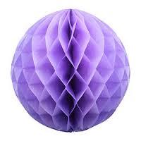 Бумажные шары соты фиолетовый цвет 20 см