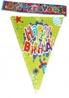 Растяжка флажки Happy Birthday
