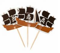 Пики для канапе Пиратский корабль, 20шт