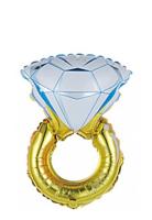 """Фольгированный шар """"Кольцо с бриллиантом"""", Розовый, 1 шт., 32""""\81 см"""