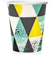 """Бумажные стаканы """"Мозаика, Бирюзовый"""", 250 см, 6шт"""