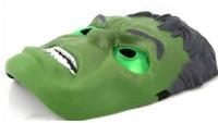 """Светящаяся маска """"Халк""""  из толстого пластика"""