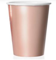 "Бумажные стаканы ""Розовое золото"", 250 мл, 6шт"