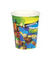 "Бумажные стаканы ""Черепашки ниндзя"", 8 шт, 266мл"