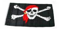Большой пиратский флаг 90х150 см
