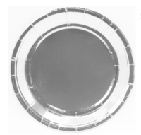 """Бумажные тарелки """"Серебро"""", 18 см, 6шт"""