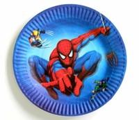 """Бумажные тарелки """"Человек паук"""" 23 см, 12 шт"""