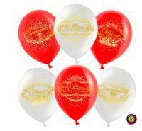 """Воздушный шар """"С Юбилеем!, Белый ,Красный, пастель"""